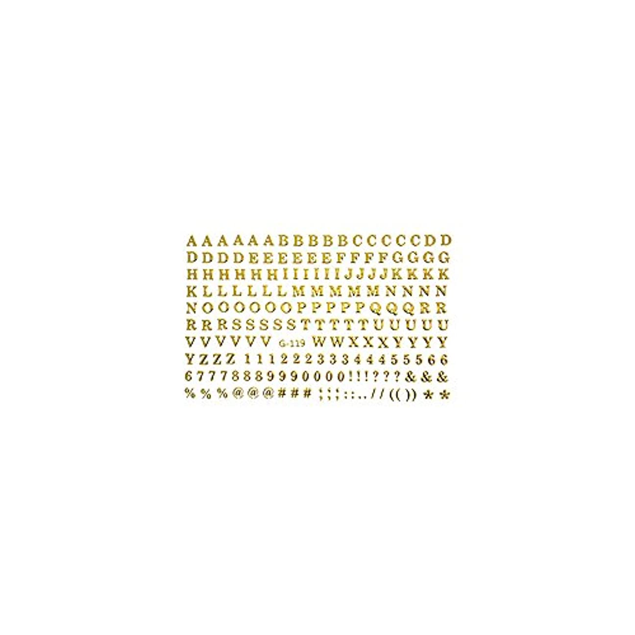 ペンフレンド情熱ヶ月目【G-119】ミニアルファベット&ナンバーシール