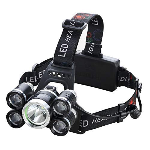 Bonery LED 高輝度ヘッドライト USB充電式18650バッテリー付...