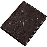 Koloeplf PUレザーメンズBIFoldハイブリッドRFIDブロックのFlipout Wallet (Color : Dark brown2)