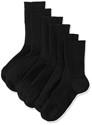 (アツギ)ATSUGI レディース靴下 WORK Fit(ワークフィット) リブ ロークルー ソックス (くるぶしの上あたりの長さ) 〈3足組〉 LB78083 ブラック 22~24cm