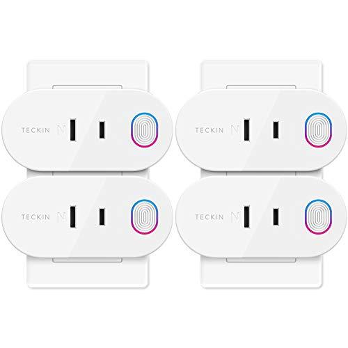 TECKIN Wi-Fi スマートプラグ Alexa Google Home対応 スマートコンセント インテリジェント ソケット 遠隔操作 音声コントロールト エネルギー モニタリング ソケット 2.4GHz 4個入り