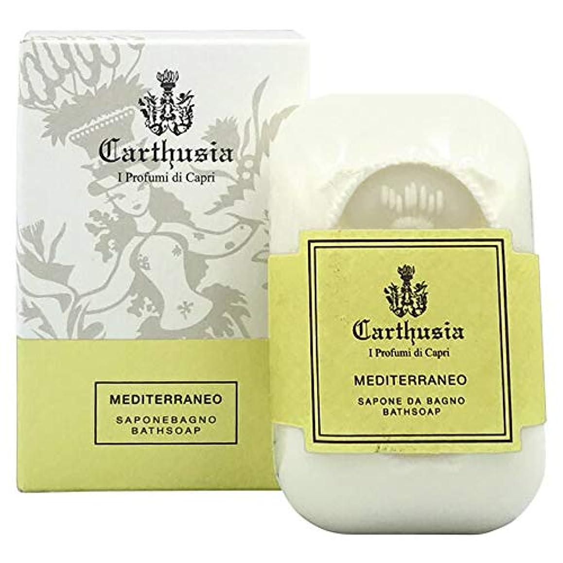 形容詞勝者乳白カルトゥージア メディテラネオ ソープ(化粧石鹸) 125g CARTHUSIA MEDITERRANEO BATH SOAP [並行輸入品]