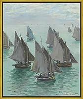 フレーム Claude Monet ジクレープリント キャンバス 印刷 複製画 絵画 ポスター(不明26) #XLK