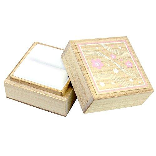 [シアーズ] Sears マリッジリング 結婚指輪 ボックス ジュエリーボックス ジュエリーケース 桐箱 桜 さくらデザイン ボックス ki005