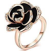 BEE&BLUE リング 指輪 欧米大人気 レディース アクセサリー ファッション ローズ柄 お洒落