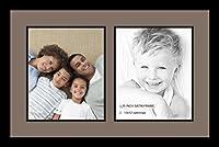 ArtToFrames アルファベット写真画像フレーム  4x6インチ開口部2つとサテンブラックフレーム 2 - 10x12 グレー Double-Multimat-1385-748/89-FRBW26079