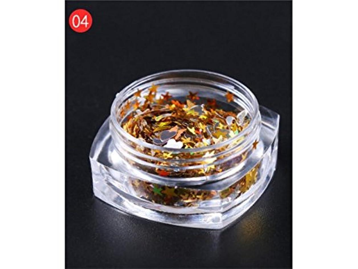 相談アジア人マージンOsize DIYのキラキラ輝く星のスパンコールのためのマルチシェイプのキラキラの色とりどりのカラフルなスパンコールは、ネイルアートと装飾(ゴールデン)