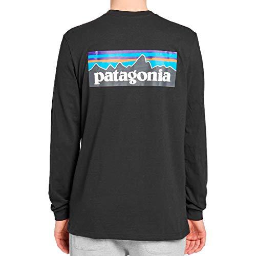 PATAGONIA LONG SLEEVE P-6 LOGO RESPONSIBILI TEE 39161-BLK [並行輸入品]