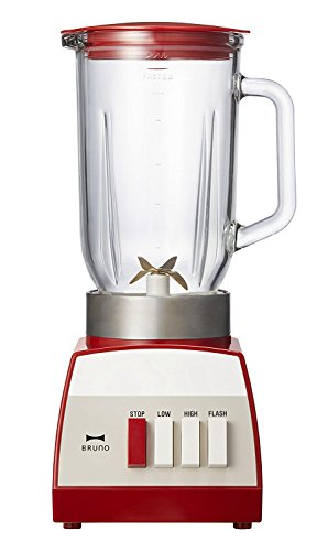 BRUNO ブルーノ レトロガラスブレンダーレッド 7760412 容量1L レシピ付き