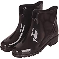 CCZZ Women's Ankle Rubber Wellington Boots Anti Slip Rain Shoes Bow Ankle Wellies Rain Snow Boots