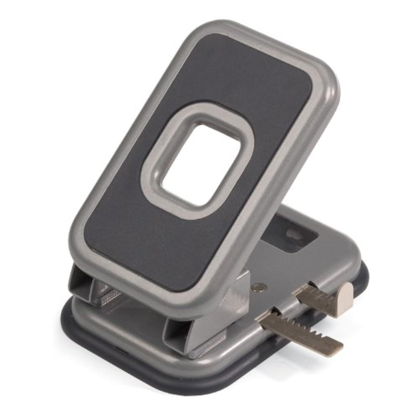 認識セールスマン私達Officemate Auto-Centering 2 Hole Punch, 40 Sheet Capacity, Silver and Charcoal (90122)