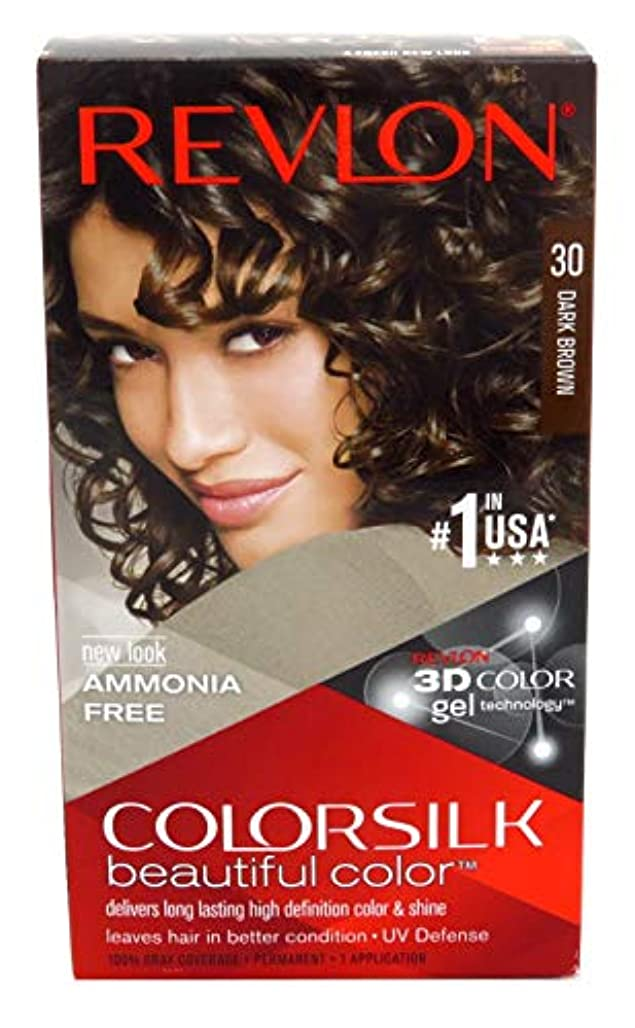 水っぽいジャーナル構築するRevlon Colorsilk Hair Color 30 Dark Brown, by Revlon