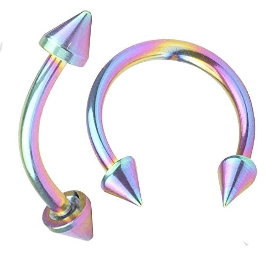 覆す担保練るFB 16 G 10 mmサージカルスチール鼻リングフープ眉ピアスジュエリーカーブバーベルアイブロートラガスリップリング。