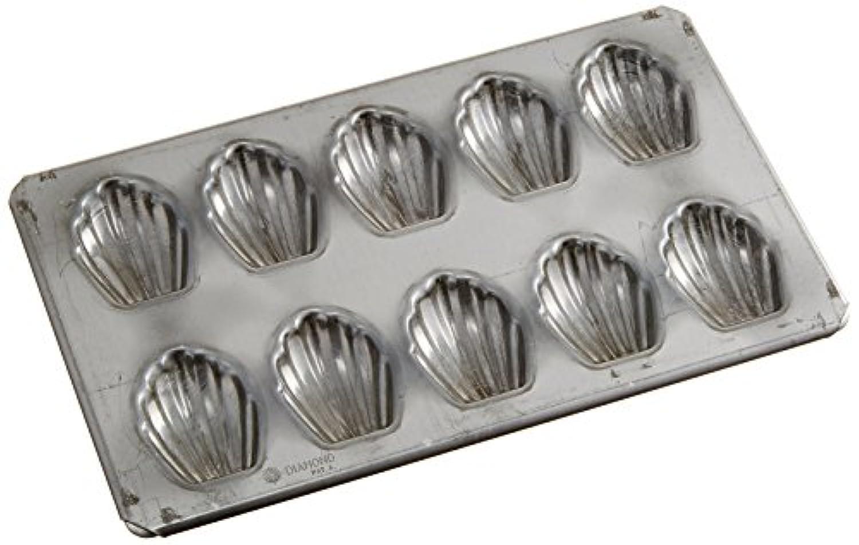 新考社 マドレーヌ貝型 シリコン加工 10コ付き イ-148