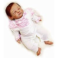 Poseable Reborn新生児赤ちゃん人形ソフトビニールFake Preemie Sleeping Look Real、20インチの女性Treats