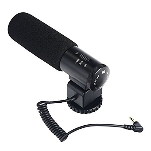 一眼レフ マイク、K&F Concept カメラマイクロホン CM-500 カメラ外付けマイク コンデンサーマイク 指向性 インタビュー 撮影 レコーディングマイクロホン Pentax、Nikon、Canon、一眼レフ対応
