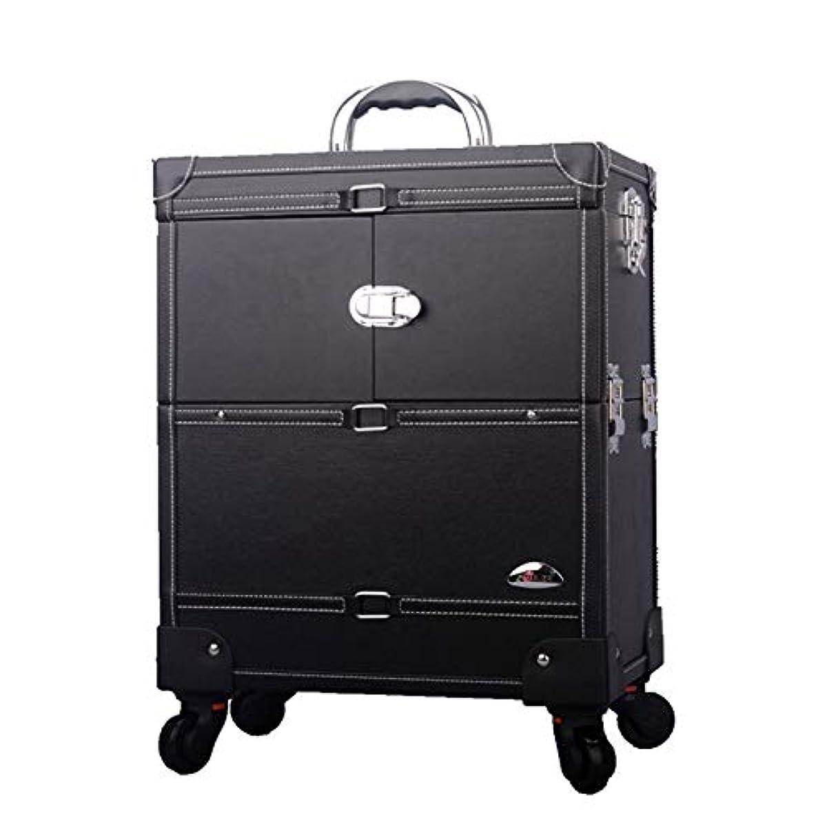 狂乱協力差し迫ったプロ専用 美容師 クローゼット スーツケース メイクボックス キャリーバッグ ヘアメイク プロ 大容量 軽量 高品質 多機能 I-JL-3623T-B-T