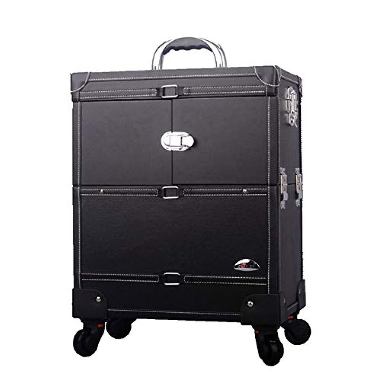 プロ専用 美容師 クローゼット スーツケース メイクボックス キャリーバッグ ヘアメイク プロ 大容量 軽量 高品質 多機能 I-JL-3623T-B-T
