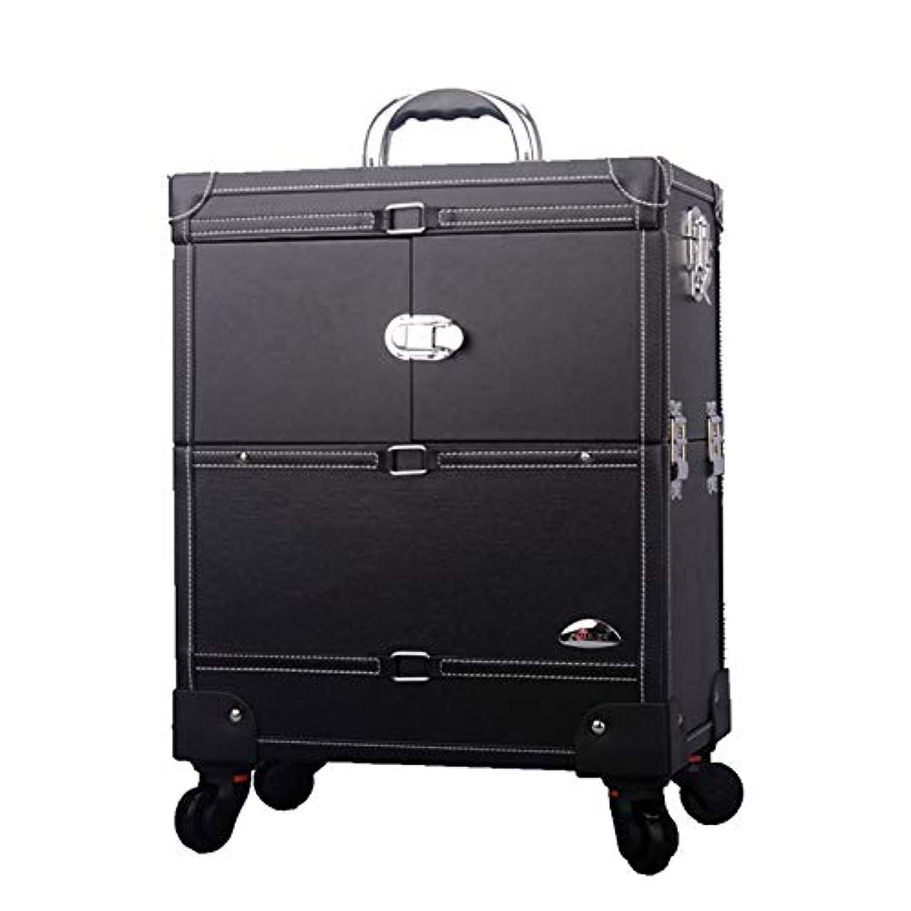 広まったウィザード賠償プロ専用 美容師 クローゼット スーツケース メイクボックス キャリーバッグ ヘアメイク プロ 大容量 軽量 高品質 多機能 I-JL-3623T-B-T