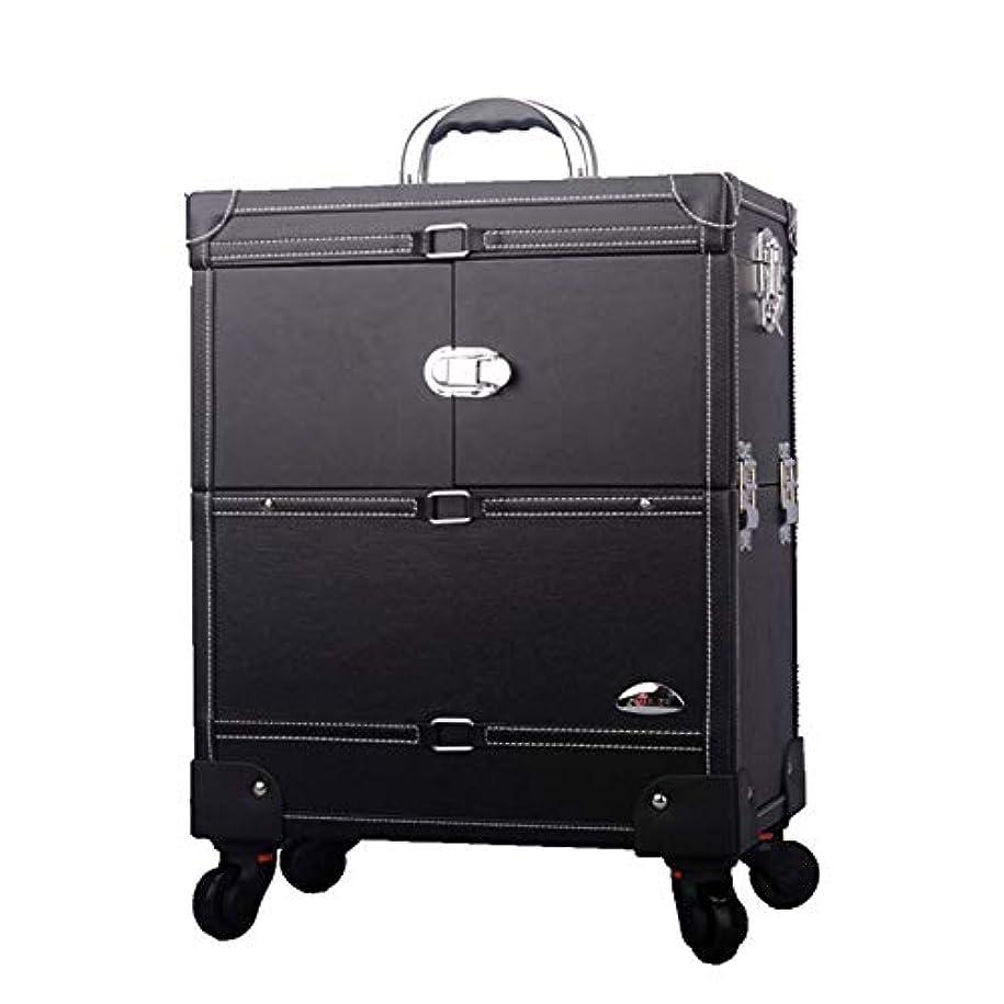 柱累計派手プロ専用 美容師 クローゼット スーツケース メイクボックス キャリーバッグ ヘアメイク プロ 大容量 軽量 高品質 多機能 I-JL-3623T-B-T