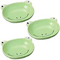 3個セット 子供食器 カエルカレー皿 [15.2 x 12.3 x 4cm] 子供用食器