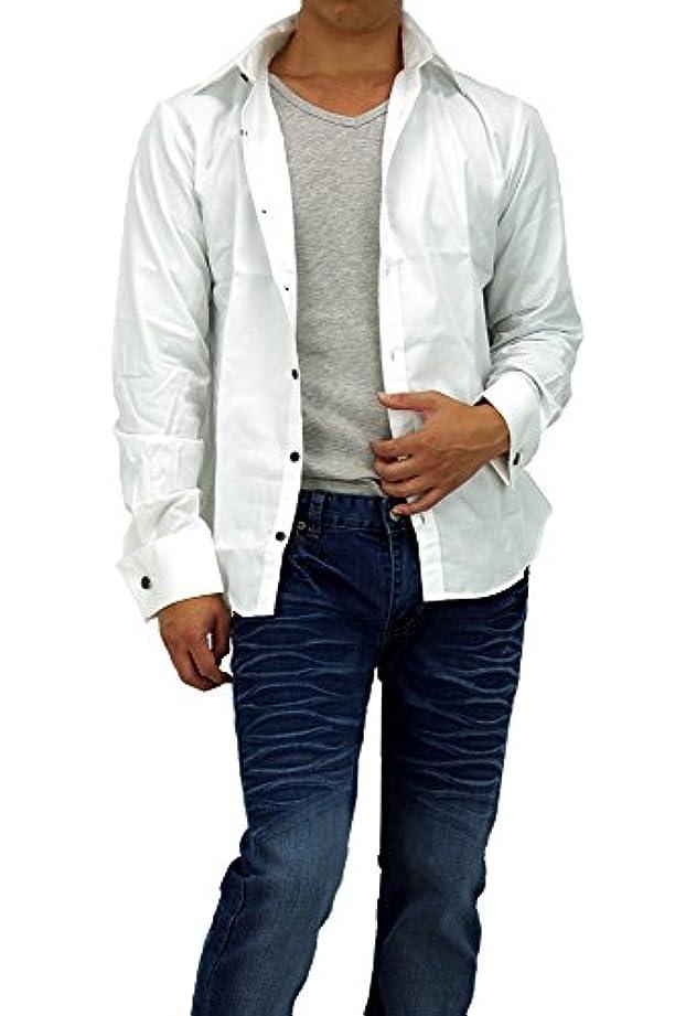 インスタント本部発生器Wカフスシャツ ドレスシャツ メンズ 904036 長袖 5-124004