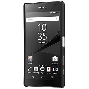 【TopAce】Sony Xperia Z5 Compact 専用ケース 高品質 超薄型 超耐磨 最軽量 スマートフォンケース (ブラック)