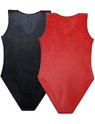 EXLATEX ラテックス ボディスーツ 女性水着 ラテックス ラバー グミ レオタード ブラック ラテックス キャットスーツ