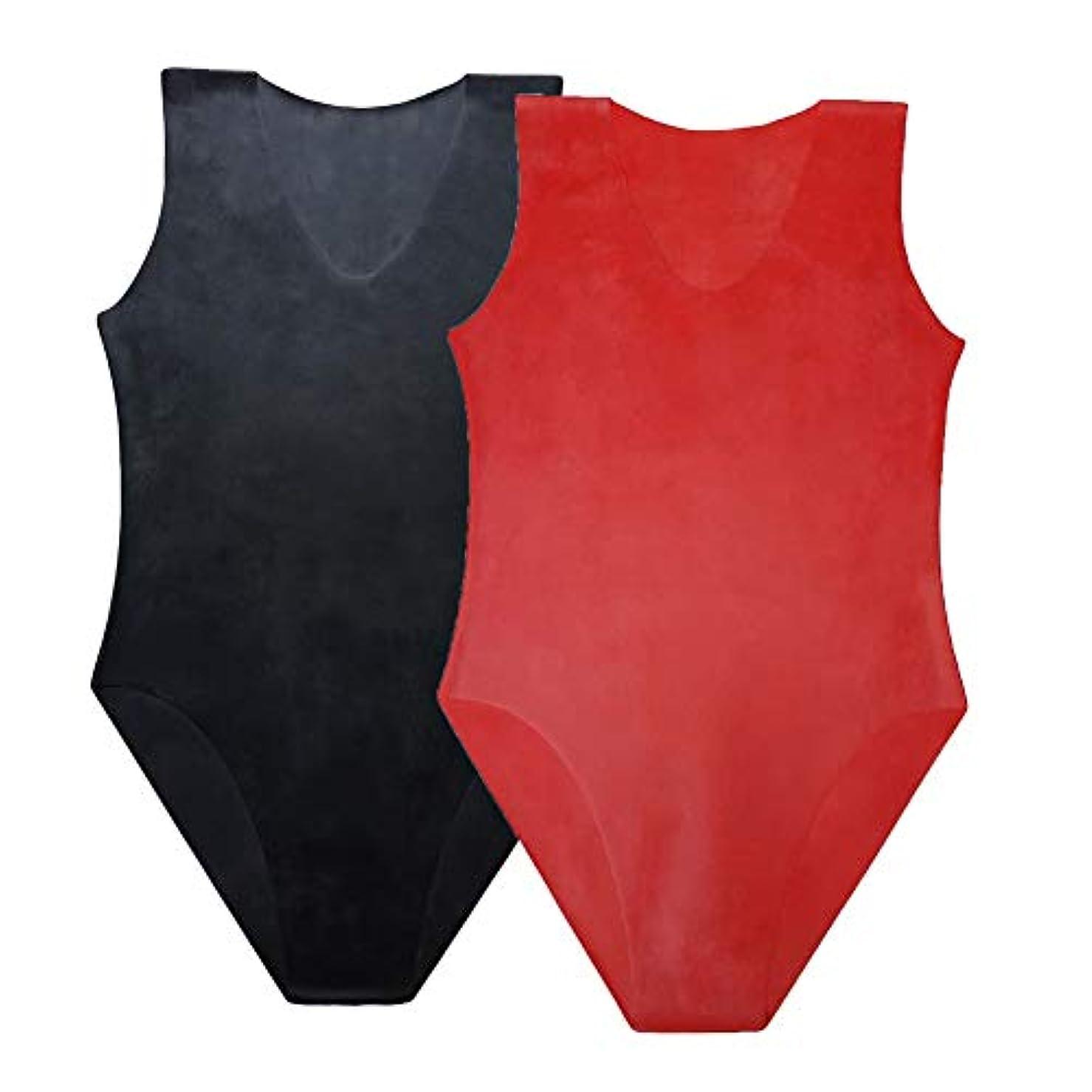 ボア月協力的EXLATEX ラテックス ボディスーツ 女性水着 ラテックス ラバー グミ レオタード ブラック ラテックス キャットスーツ