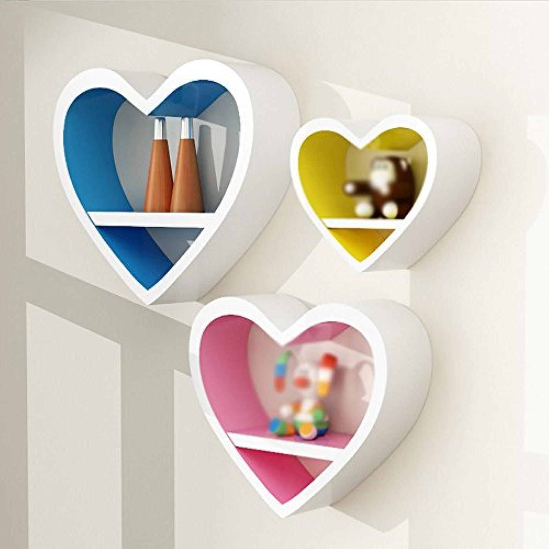 ZR- ハート型壁掛けクリエイティブラティスウォールデコレーションベッドルームリビングルームテレビの壁の壁掛け現代のシンプルな壁掛け棚壁の装飾(複数のスタイルがあります) (色 : H h)