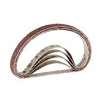 Baosity 全10サイズ サンディング ベルト 研磨ベルト サンダーベルト 40-600# 酸化アルミ  - 180#
