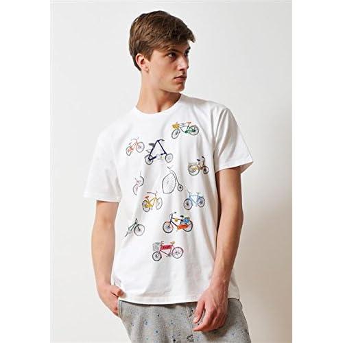 ( グラニフ ) graniph ベーシック Tシャツ / ヴァリアスタイプスオブバイシクルス ( ホワイト ) SS