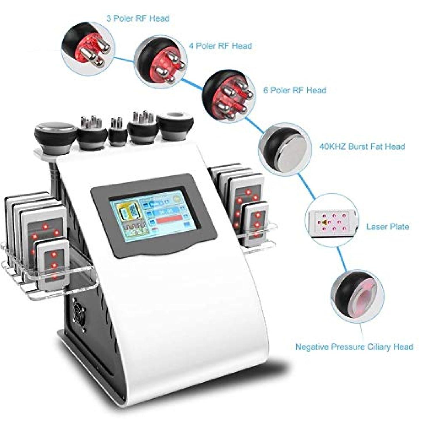 水平遅滞狭いマッサージ、フェイスケアボディスリミングシェーピング治療装置の機械、40Kプロフェッショナル脂肪マッサージ、美容R/F多極真空ツールリフティングスキンをシェーピングボディ、スキンケアSPAは、脂肪、脂肪燃焼しわ除去機を削除します