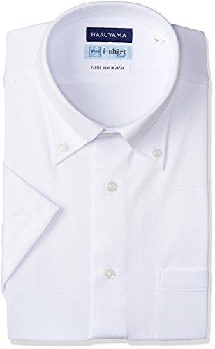 [ハルヤマ] i-shirt 完全ノーアイロン 半袖 ボタンダウンアイシャツ メンズ M162180014 ホワイト 日本 M(首回り39cm) (日本サイズM相当)