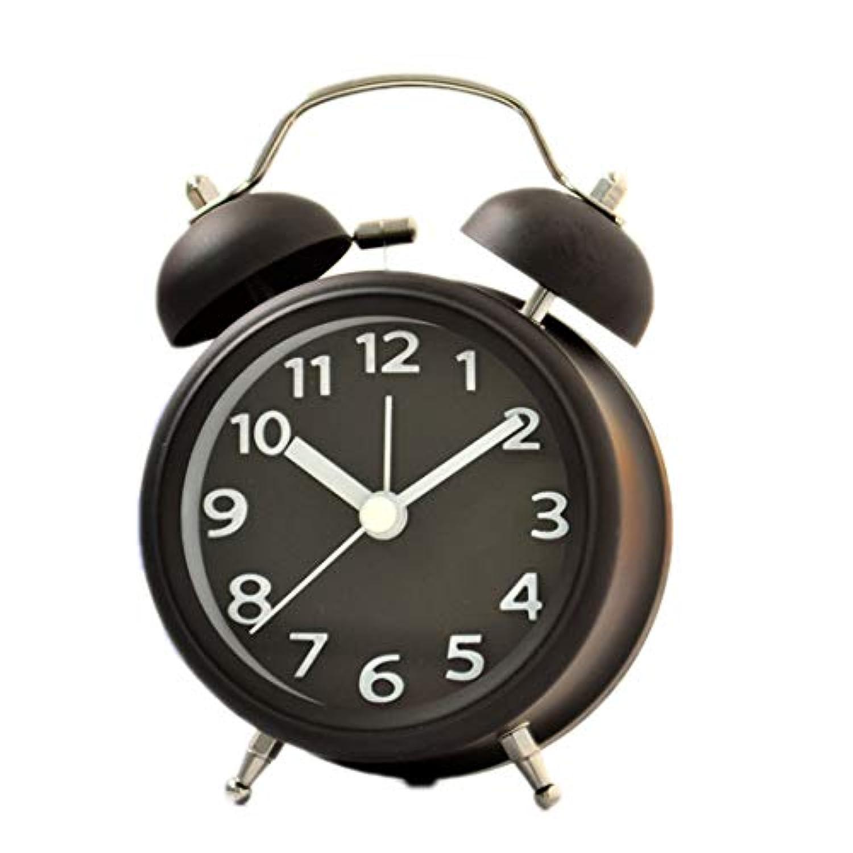 Beuway(ビーユーウェー) セイコー クロック目覚まし時計 リズム時計 コンパクトサイズ電波時計 アナログ 小さい かわいい デイリ 大音量 美しい 耐久性のある ファッション シンプル 4色 (ブラック)