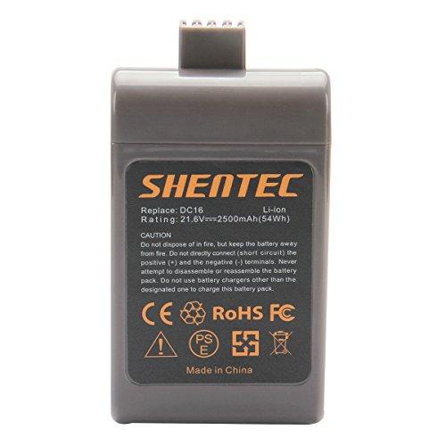 Shentec Dyson ダイソン 21.6V 2.5Ah 互換 DC16 DC16 Animal / Root-6 専用 12097 912433-01 912433-03 912433-04 BP01対応互換掃除機バッテリー、リチウムイオン ダイソン