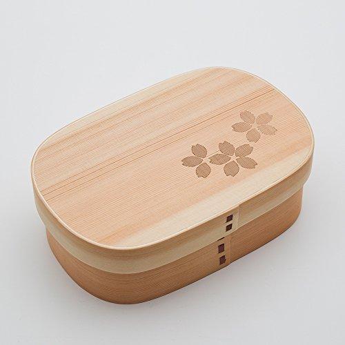三好漆器『曲げわっぱ 大和型 弁当箱 SAKURA』