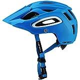 サイクリング自転車用ヘルメット 自転車用ヘルメットAll-Terrai Mtbサイクリングバイクスポーツ用安全オフロードスーパーマウンテン スポーツ用保護ヘルメット (色 : 青)