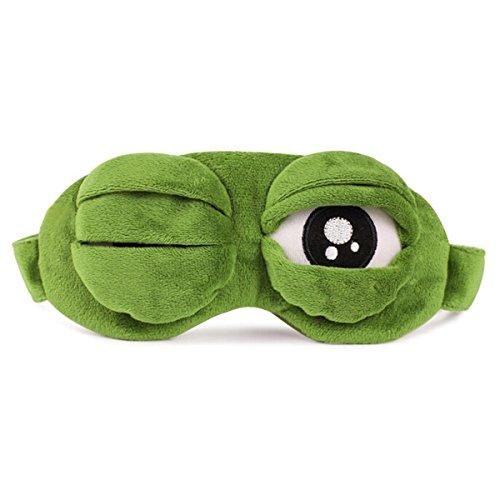 Montenas アイマスク カエル 柔らか 遮光 リラックス 睡眠 疲れ目 安眠 おもしろ 立体型 快眠グッズ