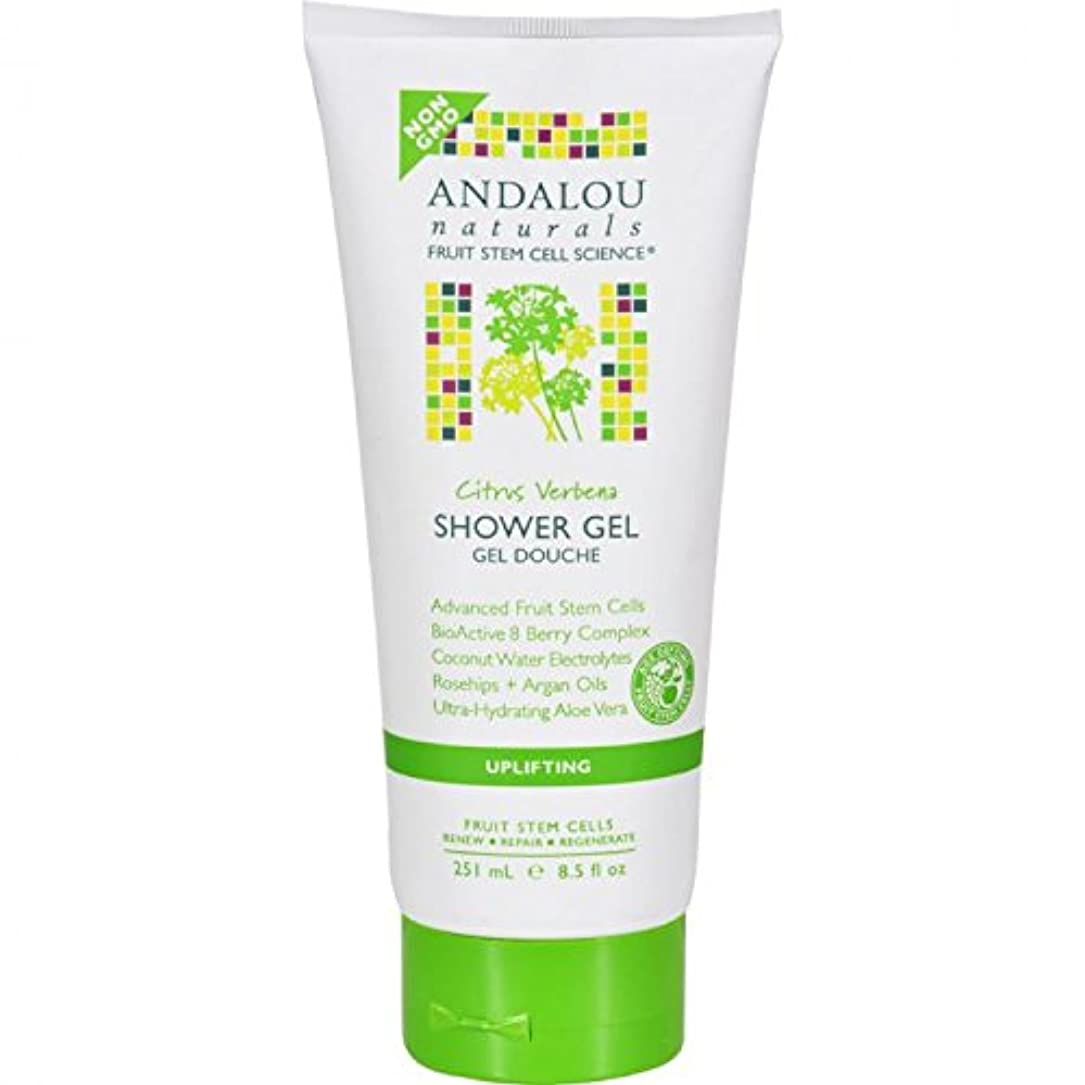 アルファベット順抑制するフリースShower Gel - Citrus Verbena Uplifting - 8.5 fl oz by Andalou Naturals
