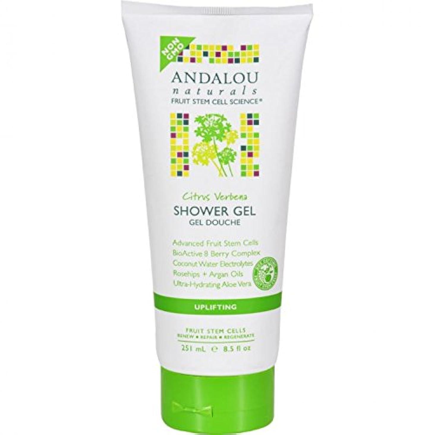 有毒ななめらかな余分なShower Gel - Citrus Verbena Uplifting - 8.5 fl oz by Andalou Naturals