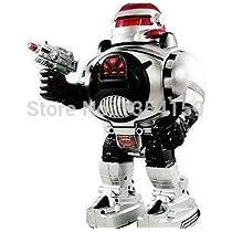 多機能プログラマブル赤外線リモコンロボットダンスの打ち上げフリスビーロボットリモートコントロールおもちゃのロボットを回転させます(Black)