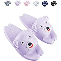 Bathroom Non-Slip Children's Slippers, Home Indoor Cute Cartoon Soft Bottom Sandals Slippers,Purple,30/31