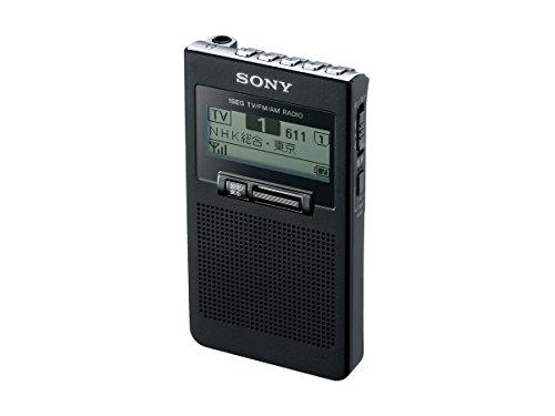 ソニー SONY ポケットラジオ XDR-63TV : ポケッタブルサイズ FM/AM/ワンセグTV音声対応 ブラック XDR-63TV B