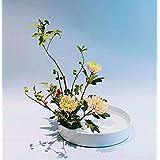花器 水盤 25CM セラミックサンド加工フラワーベース 生け花 生け花用花器 陶器花入れ いけばな道具 華道用花器 花瓶 Fukuka