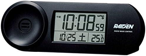 セイコー クロック 目覚まし時計 電波 デジタル 大音量 PYXIS ピクシス RAIDEN ライデン 黒 メタリック NR532K SEIKO