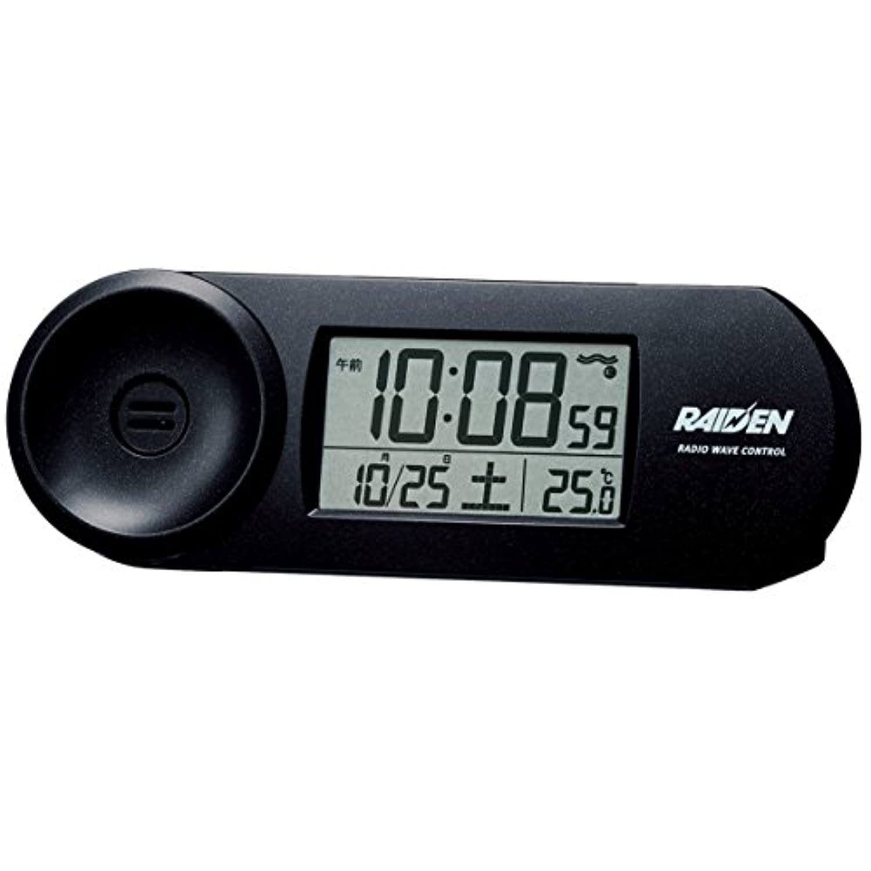 SEIKO CLOCK(セイコークロック) RAIDEN(ライデン) 大音量デジタル電波目覚まし時計(黒) NR532K