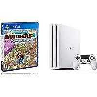 PlayStation 4 Pro グレイシャー・ホワイト 1TB + ドラゴンクエストビルダーズ2 破壊神シドーとからっぽの島 セット