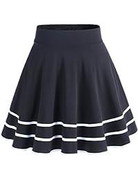 Dresstell(ドレステル) レデース フレア Aライン 無地 美脚 ハイウェスト ミニスカート