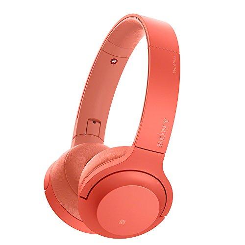 ソニー SONY ワイヤレスヘッドホン h.ear on 2 Mini Wireless WH-H800 : ハイレゾ/Bluetooth対応 最大24時間連続再生 密閉型オンイヤー マイク付き 2017年モデル トワイライトレッド WH-H800 R
